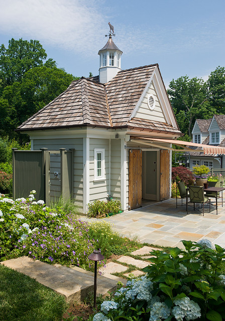 Radnor residence traditional garden shed and building for Traditional garden buildings
