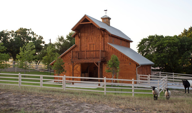 Raised Center Barn In Texas Traditional Shed Other
