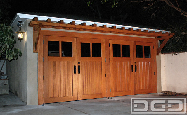 Real carriage doors authentic customized swing open carriage style garage doors traditional - Installing carriage style garage doors improve exterior ...