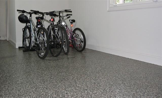 Recent Granite Garage Floor Installs modern-garage-and-shed