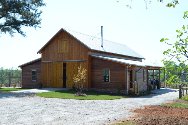 Reclaimed heart pine barn traditional-garage-and-shed