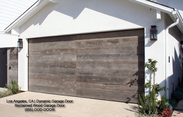 Reclaimed Wood Contemporary Garage Door Design