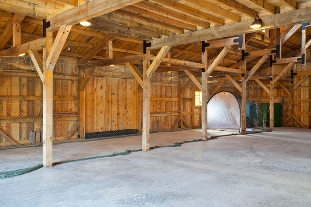 Recreational barn traditional garage and shed other for Post and beam garage plans