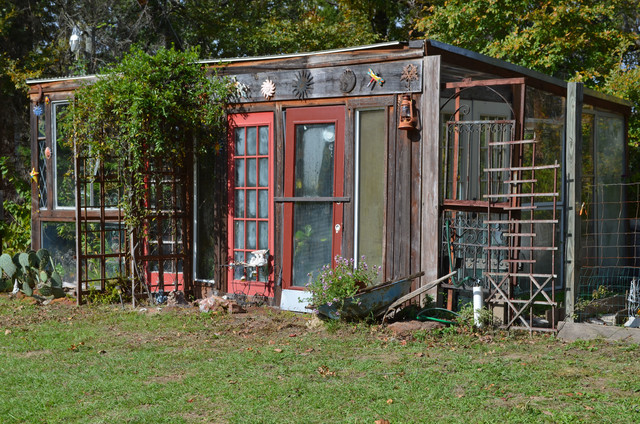 Recycled Greenhouse In Piny Woods Of Texas Eclectic
