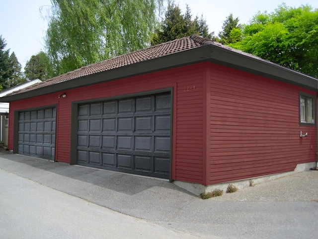 Residential Exterior Colour Consultation and Design traditional-garage-and-shed