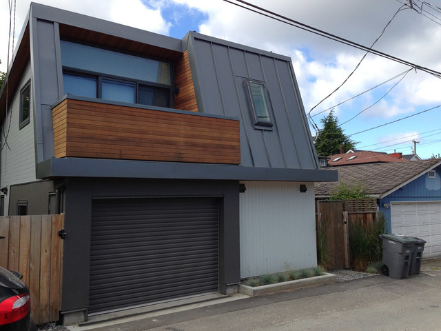 inspiration for a modern shed remodel in vancouver - Residential Roll Up Garage Doors