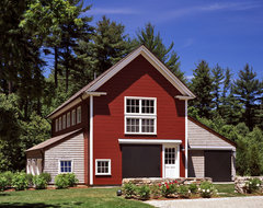 Riverview House traditional-garage-and-shed