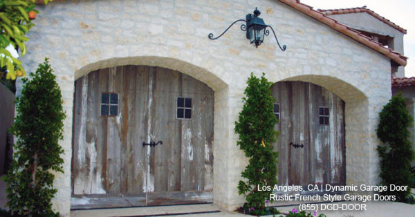 Rustic French Style Garage Doors | French Country Villa Design mediterranean garage and shed