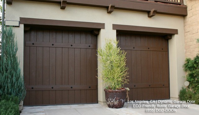 Rustic garage doors crafted in eco friendly materials for Garage door materials