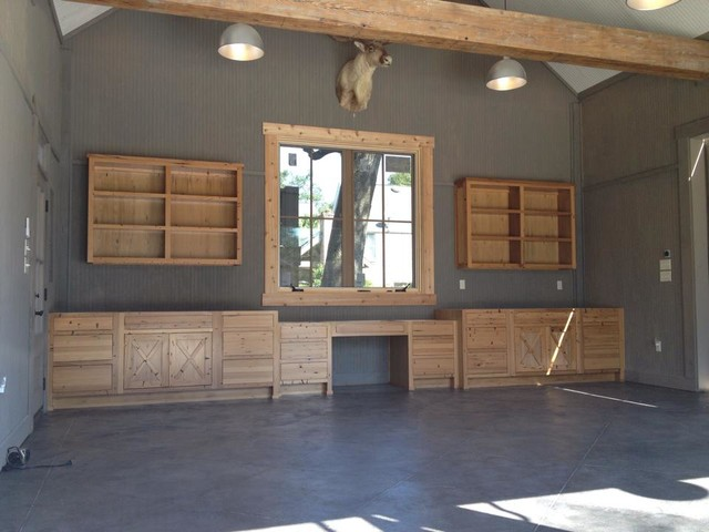 Rustic Garage Workshop - Rustic - Shed - New Orleans - by Milltown Cabinets, LLC.