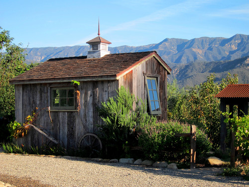 Salt Box Potting Shed in Santa Barbara California
