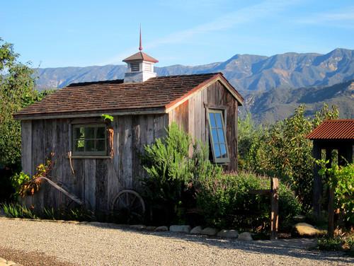 Salt Box Potting Shed in Santa Barbara California