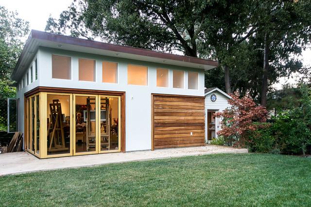 San francisco bay area artist studio modern shed san for Prefab garage with studio