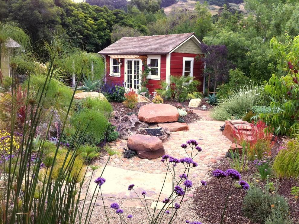 Garden shed - farmhouse detached garden shed idea in San Luis Obispo