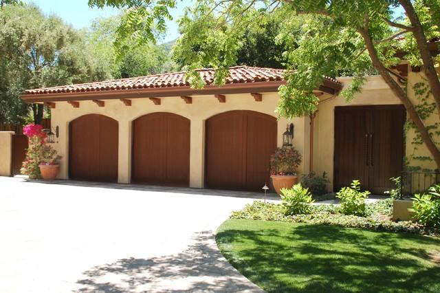 Santa Barbara/Mediterranean Style mediterranean-garage-and-shed