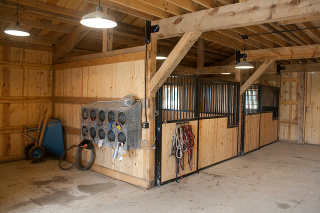 SD Horse Barn Traditional Garage And Shed Other