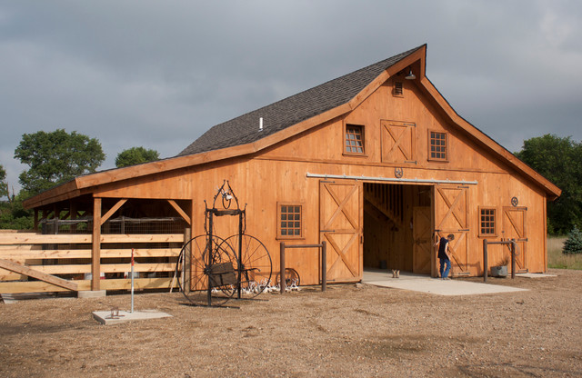 Sd horse barn traditional garage and shed other for Pole barn design ideas