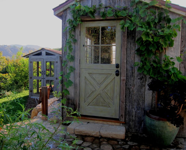 shabby chic chicken coop and potting shed country garden shed and building