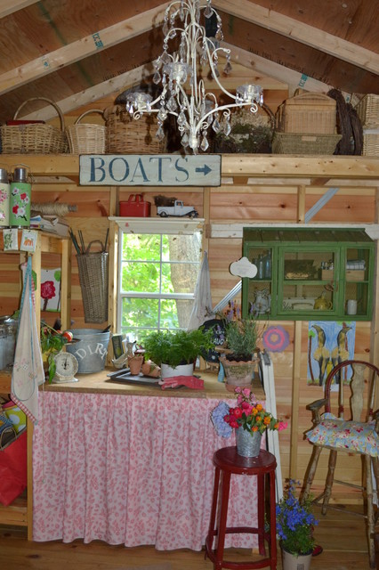 Shabby Chic Shed eclectic garage and shed