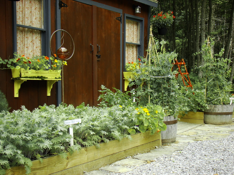 Shed - rustic shed idea in Portland Maine