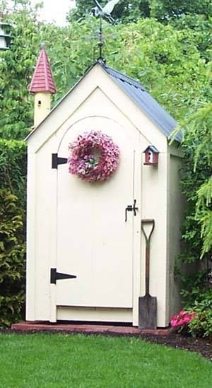 Shed kits non working outhouse style shed traditional for Traditional barn kits