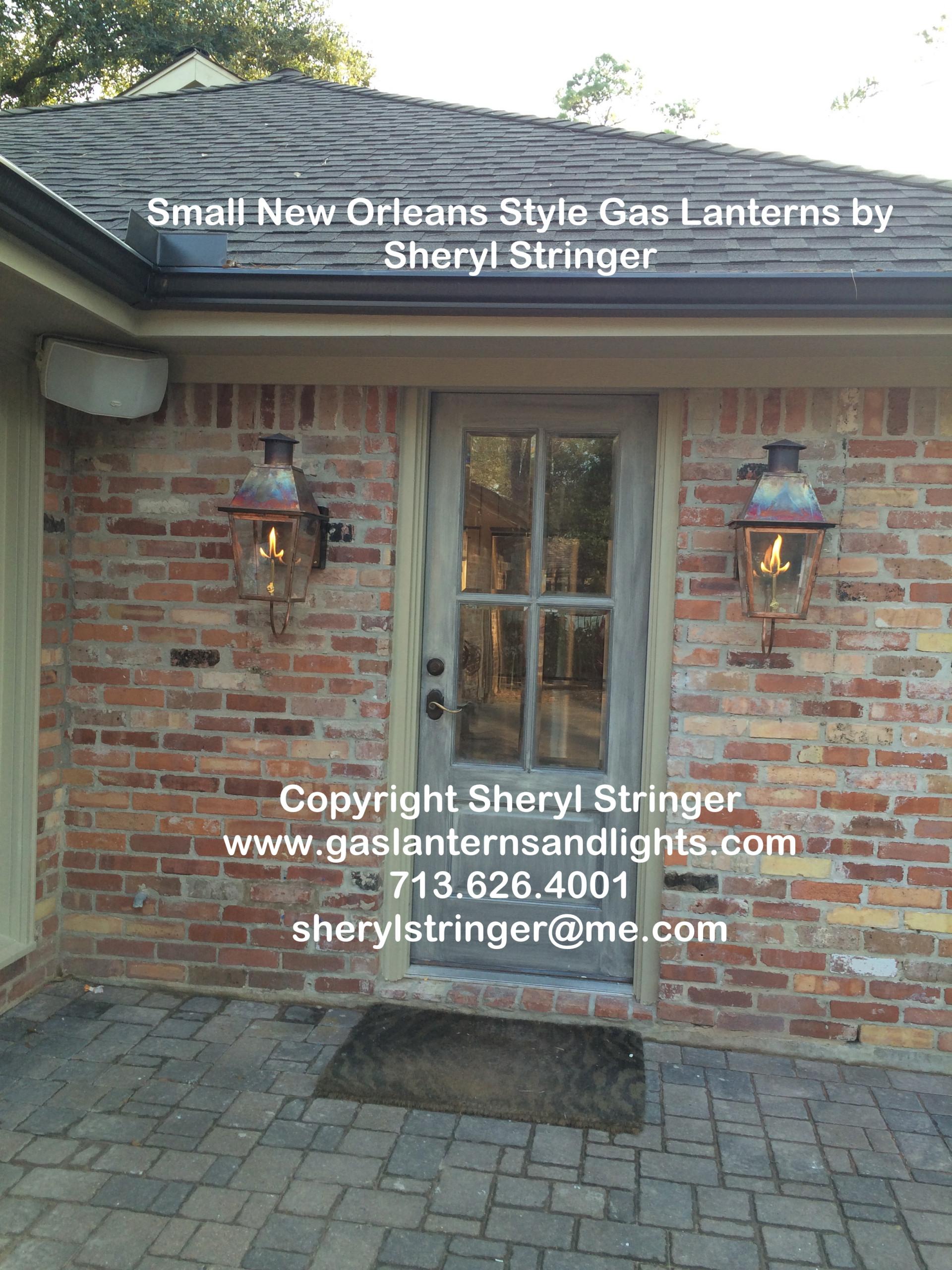 Sheryl's New Orleans Style Gas Lanterns by Kitchen Door
