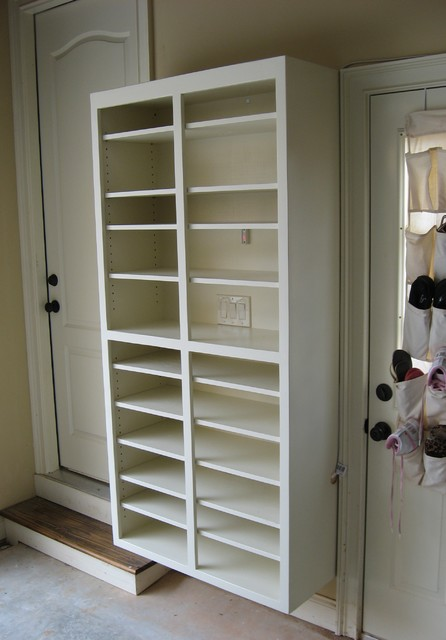 Shoe Rack - Traditional - Garage And Shed - atlanta - by True Carpentry and Cabinetry