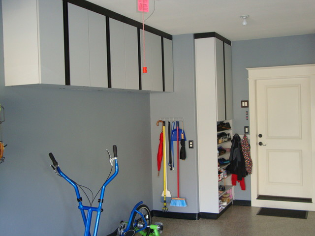 Simple Neat and Cool Black and White Garage - Modern - Garage And Shed - st louis - by Kay Wade ...