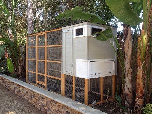 Sleek Beach Garden Chicken Coop With Run Beach Style Shed