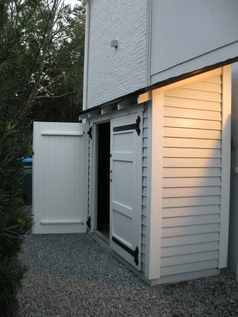 Small Storage Along The Side Of A House