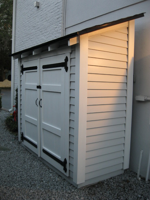 Small Storage Along The Side Of A House Traditional Granny Flat Or