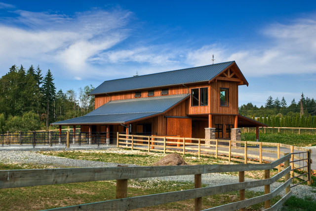 Barn Design Ideas exterior stunning open plan kitchen decoration with barn inspired modern barn house design modern barn style Example Of A Country Barn Design In Vancouver