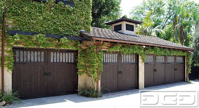 South Pasadena Custom Carriage House Garage Doors Design