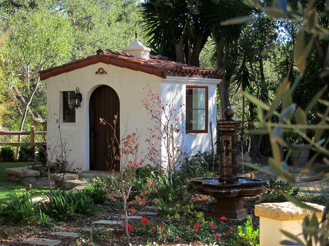 Spanish Style She Shed Santa Barbara Home Design