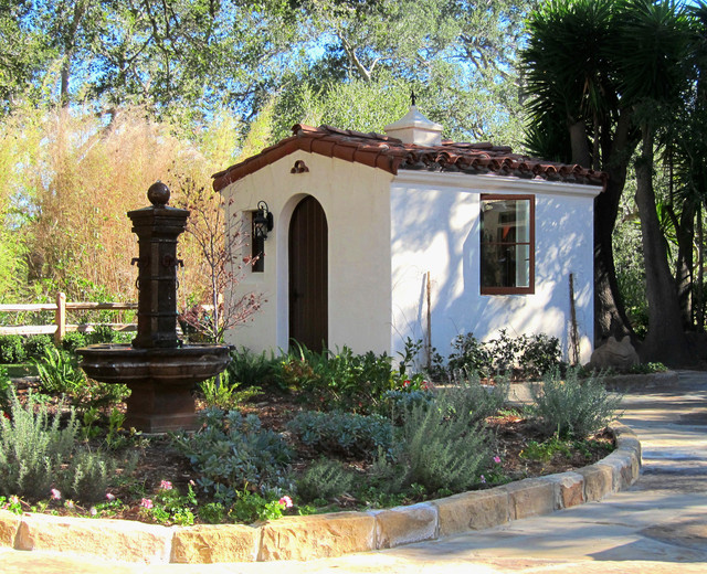 Spanish Style She Shed Jeff Doubet Santa Barbara Home Design ...