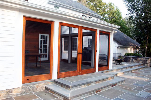New Enclosed Patio Addition With New Rear Yard Pavement And Louver
