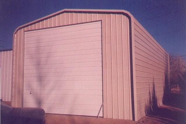 Steel building & garage door. industrial-garage-and-shed