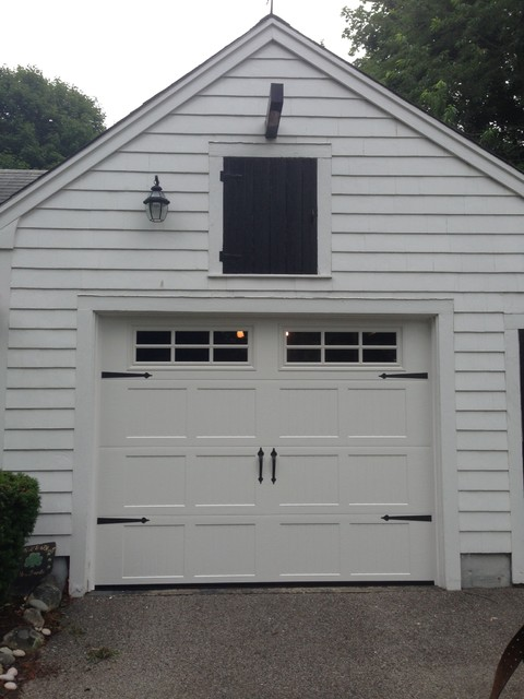 Steel Carriage House Garage Doors Modern Garage And