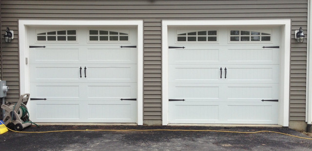 Steel Carriage House Garage Doors modern-garage-and-shed