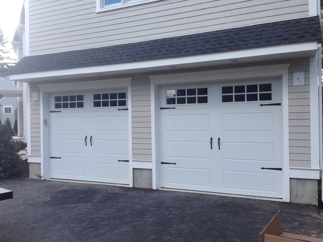 Steel carriage house garage doors modern garden shed for Build carriage garage doors