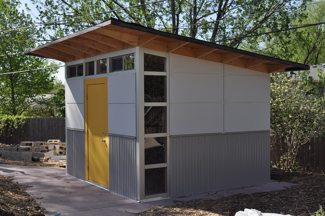 Storage garden shed 10x12 studio shed modern garage for Outside buildings design