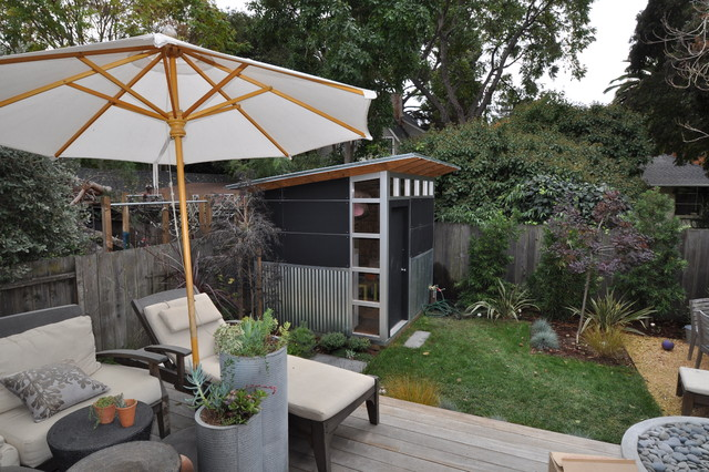 minimalist detached garden shed photo in denver - Garden Sheds With Patio