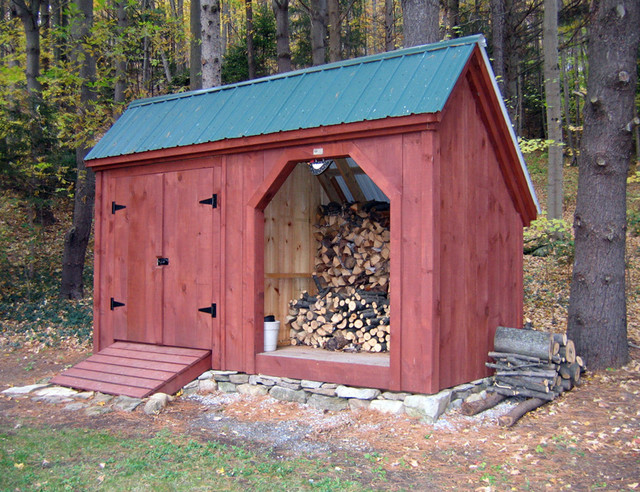Storage Shed And Firewood Storage Combo Traditional