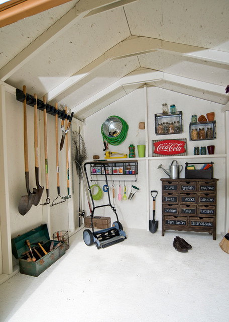 Storage Shed Interior Design Ideas traditional-shed