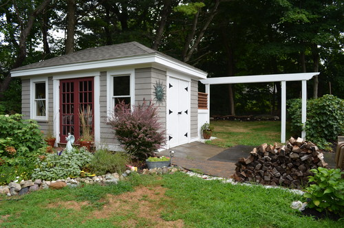landscaping ideas for shed