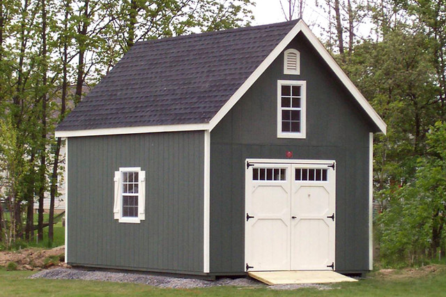 Storage sheds two story traditional shed new york for Two story shed house