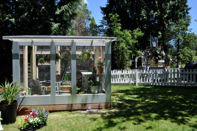Studio Sprout 8x10 Greenhouse Modern Garden Shed and Building