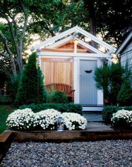 surfers end outdoor shower surfboard storage shed beach style shed