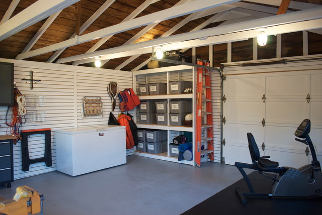 Surprise garage makeover eclectic and shed