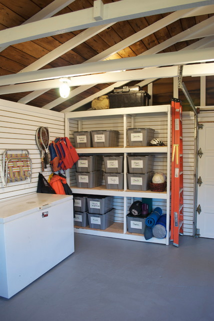 Surprise Garage Makeover! eclectic-garage-and-shed